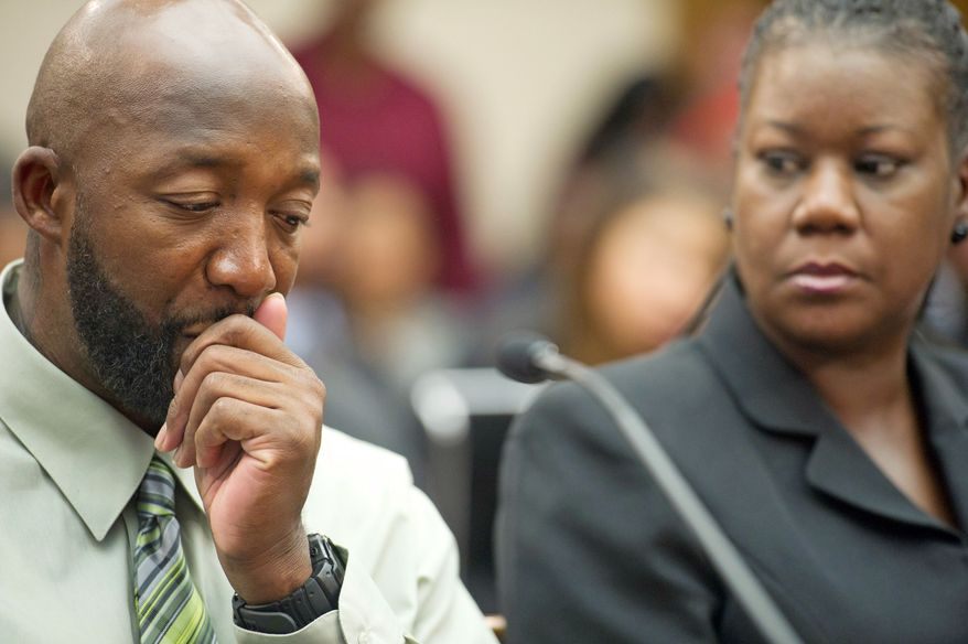 ** FILE ** Tracy Martin and Sybrina Fulton, parents of Trayvon Martin. (Rod Lamkey Jr./The Washington Times)