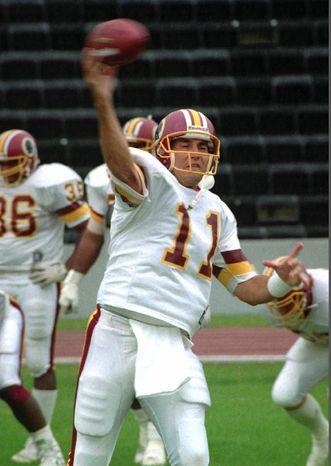 **FILE** Former Washington Redskins quarterback Mark Rypien (Associated Press)