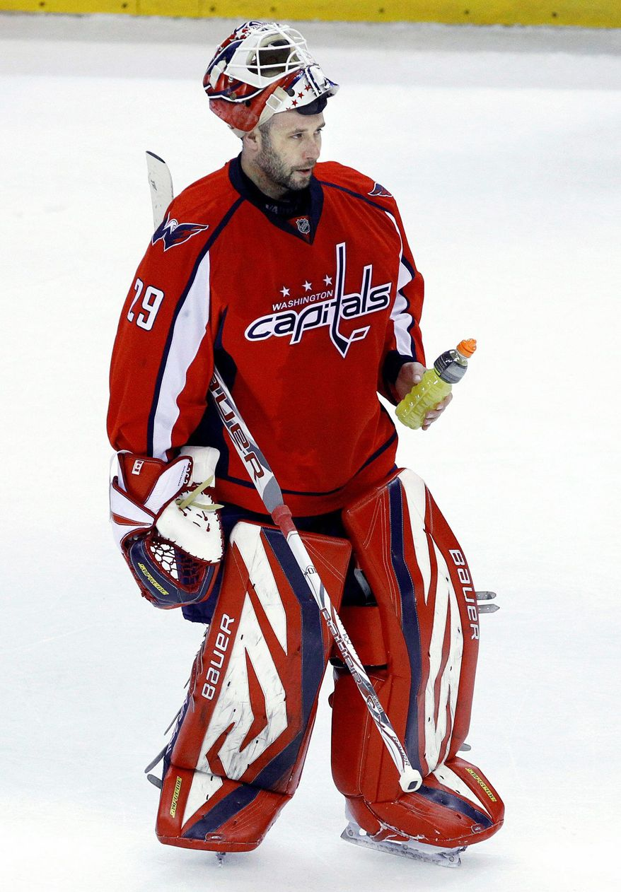 Washington Capitals veteran goalie Tomas Vokoun was signed to a one-year deal in the offseason and has posted a 25-17-2 record despite battling a groin injury recently. (Associated Press)