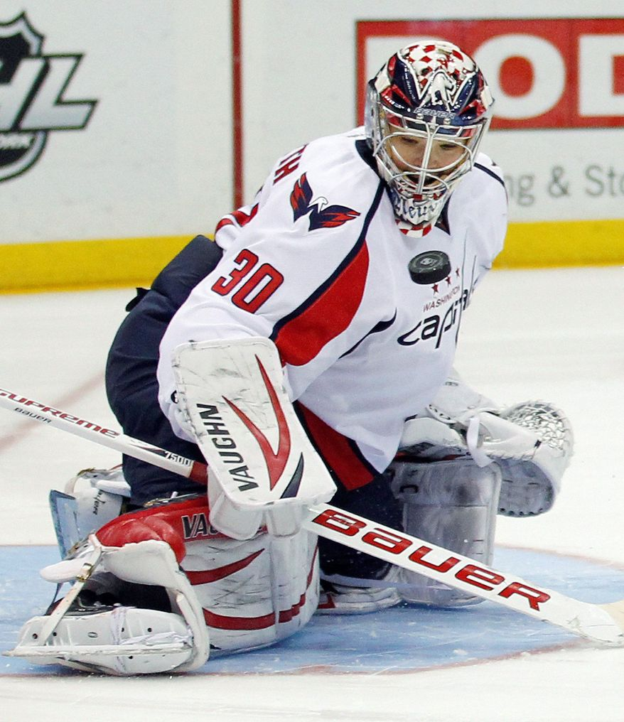 Washington Capitals goalie Michal Neuvirth is 11-12-5 while serving primarily in a backup role. (Associated Press)