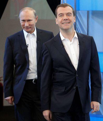 **FILE** Russian President Vladmir Putin and Prime Minister Dmitry Medvedev