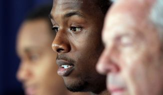 Harrison Barnes averaged 17.4 points and 5.2 rebounds per game for the Tar Heels this season. (Associated Press)