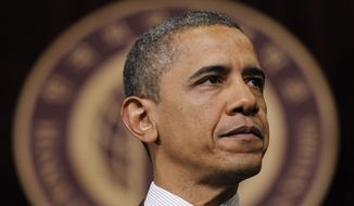 President Obama speaks March 26, 2012, at Hankuk University in Seoul. (Associated Press)