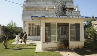 **FILE** The guesthouse inside Osama bin Laden's compound in Abbottabad, Pakistan, is seen Nov. 18, 2011. (Associated Press)