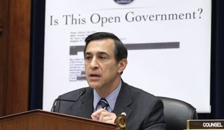 **FILE** House Oversight and Government Reform Committee Chairman Darrell Issa, California Republican (Associated Press)