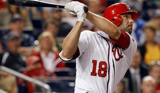 Danny Espinosa has a .186 batting average with a .282 on-base percentage and .235 slugging percentage this season to go along with 37 strikeouts, which is tied for the National League lead. (Associated Press)