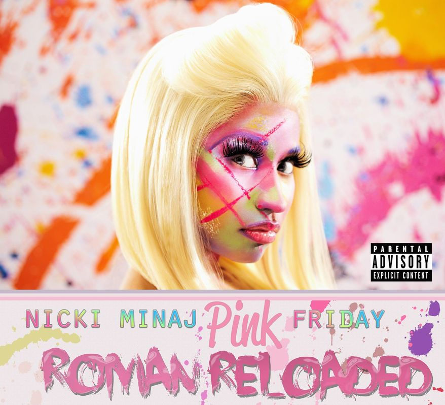 """Album cover for Nicki Minaj """"Pink Friday Roman Reloaded""""."""