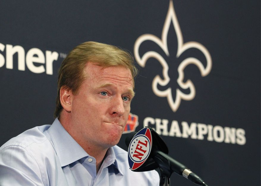 NFL commissioner Roger Goodell still has to rule on the appeal of Saints coach Sean Payton, who was suspended for the 2012 season. (Associated Press)