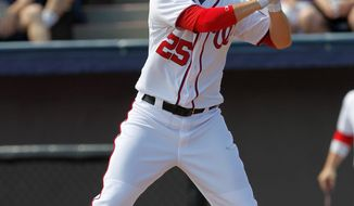 First baseman Adam LaRoche had just three home runs, 15 RBI and a .172 average when his first season with the Nationals ended with shoulder surgery. (Associated Press)