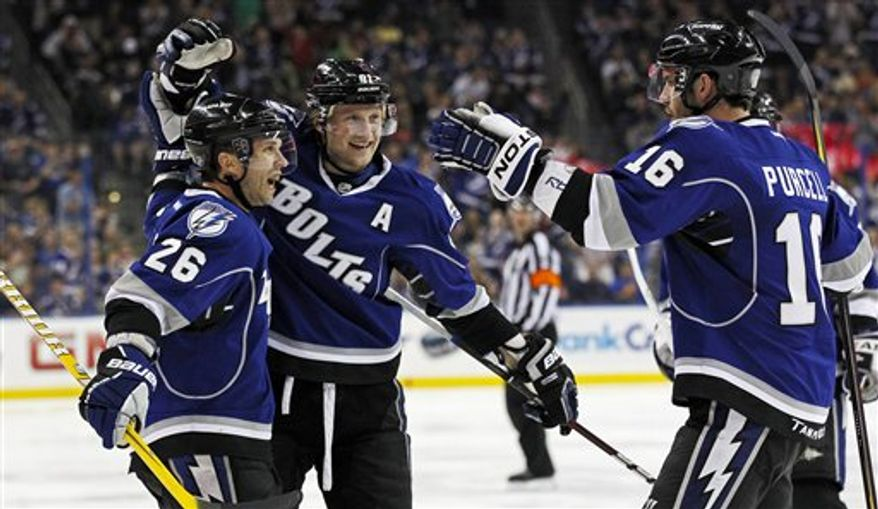 Steven Stamkos could become just the second player since the lockout to reach 60 goals in a season. (Associated Press)