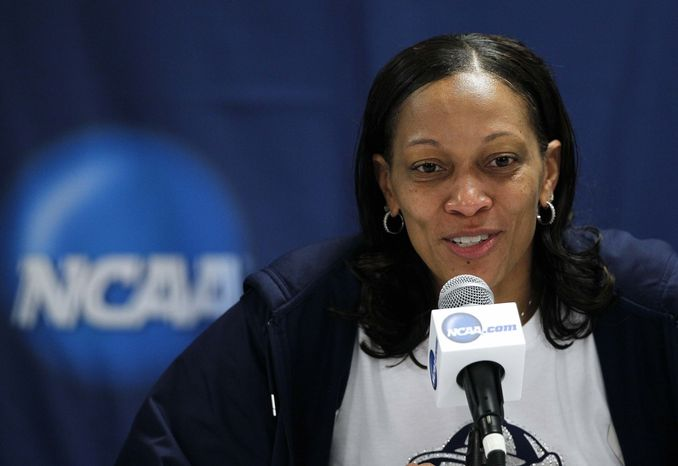 After eight seasons as Georgetown women's basketball coach, Terri Williams-Flournoy is leaving the Hoyas to become coach at Auburn. (AP Photo/Gerry Broome)