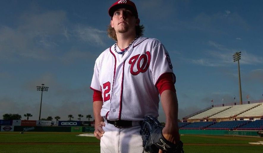 """Nationals closer Drew Storen takes an analytical approach to his craft. """"He can look at things differently than the others,"""" reliever Sean Burnett says of his bullpen mate. (Andrew Harnik/The Washington Times)"""