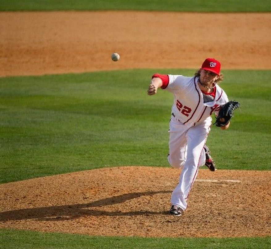 Drew Storen racked up 43 saves in 2011, his first full season as the Nationals' closer. He'll start this season on the disabled list, but he's expected back soon. (Andrew Harnik/The Washington Times)