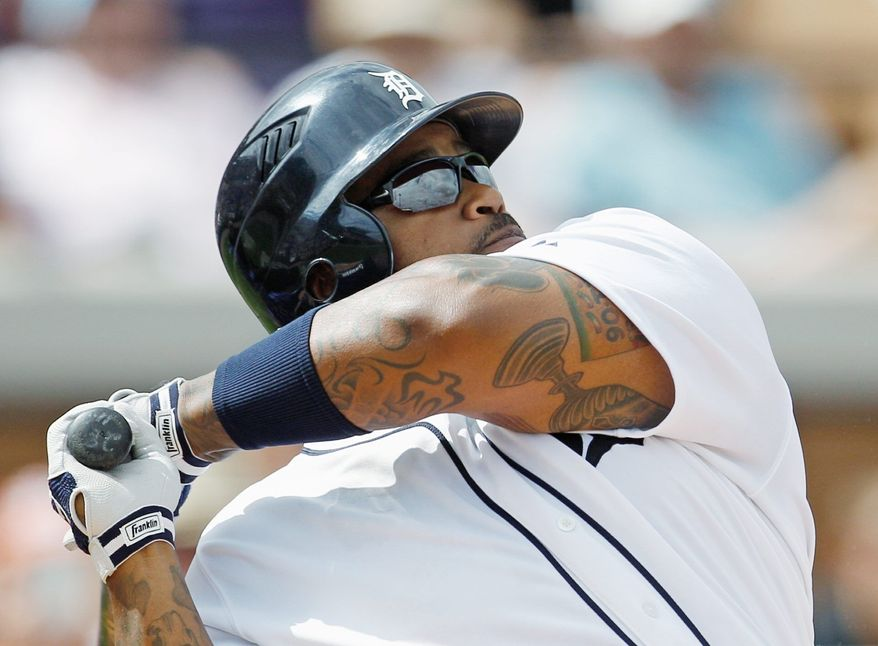 Prince Fielder has hit at least 32 home run in each of the past five seasons. He'll be taking his big bat to Detroit after signing a nine-year, $214 million contract in January. (Associated Press)
