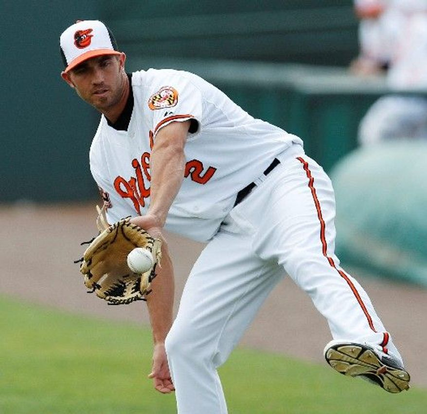 Baltimore shortstop J.J. Hardy slugged 3O home runs and collected 80 RBI in 129 games last season after coming over from Minnesota. He also committed just six errors and took part in 79 double plays. (Associated Press)