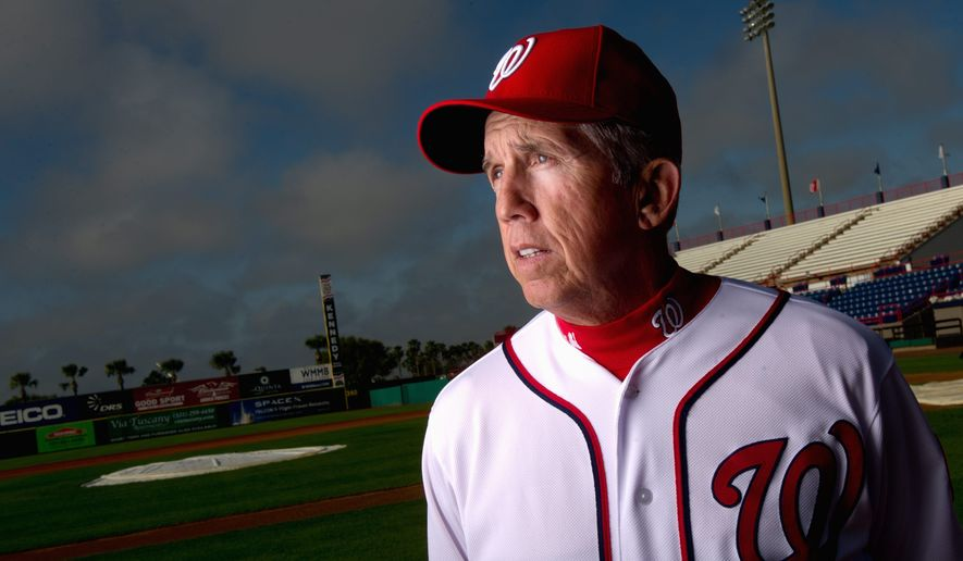 Davey Johnson has posted a winning percentage of .543 or better nine times in his 12 full seasons as a manager. A percentage of .543 would give Washington 88 wins - a number that likely would yield a playoff berth. (Andrew Harnik/The Washington Times)