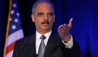 "Attorney General Eric H. Holder Jr. acknowledged Wednesday that the Supreme Court has ""the final say"" on the constitutionality of legislation. (Associated Press)"