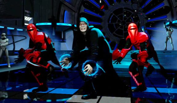 That is the Emperor dancing in the video game Kinect Star Wars.