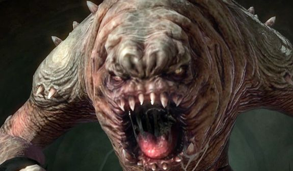 Become a Rancor in the video game Kinect Star Wars.