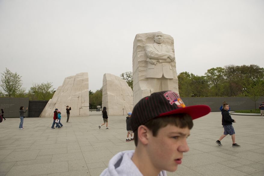 The Martin Luther King Jr. Memorial is seen on the 44th anniversary of the 1968 assassination of Dr. Martin Luther King, Jr. (Rod Lamkey Jr/The Washington Times)