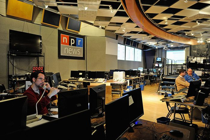 **FILE** National Public Radio's Studio 4A in Washington, D.C. (Barbara L. Salisbury/The Washington Times)