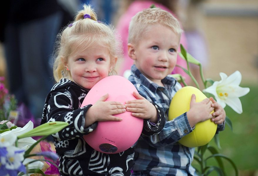 The National Retail Federation has found that the 82 percent of Americans who celebrate Easter will spend a total of $16.8 billion on food, decorations and apparel this year. (Orange County Register via Associated Press)