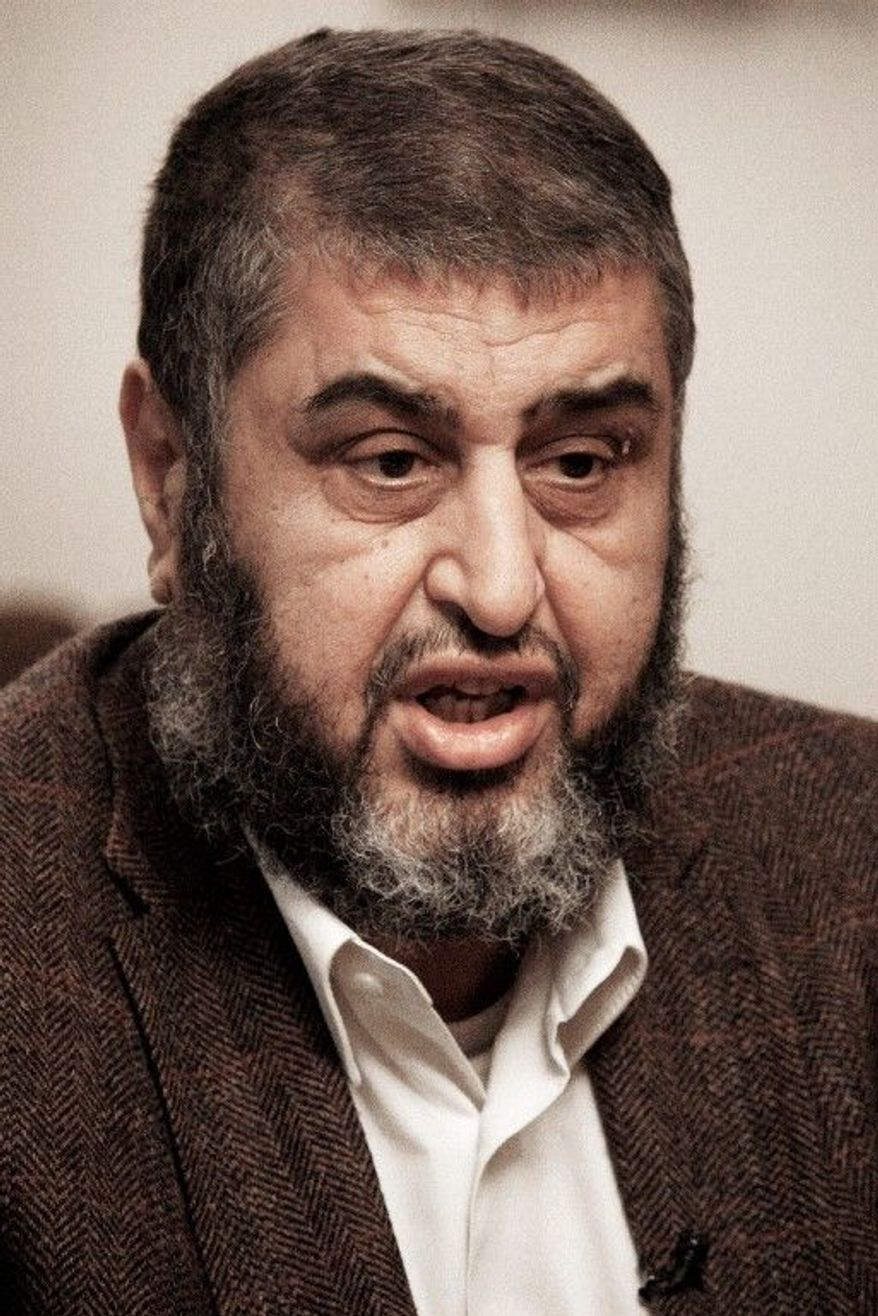Khairat al-Shater, a presidential hopeful, filed election papers on Thursday. (Associated Press)
