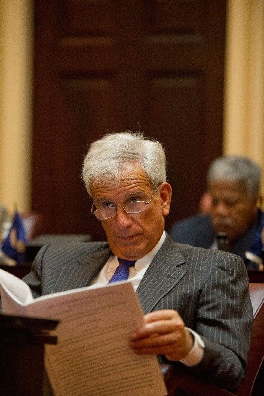 Virginia State Senator Richard Saslaw, Fairfax County Democrat (Andrew Harnik/The Washington Times)