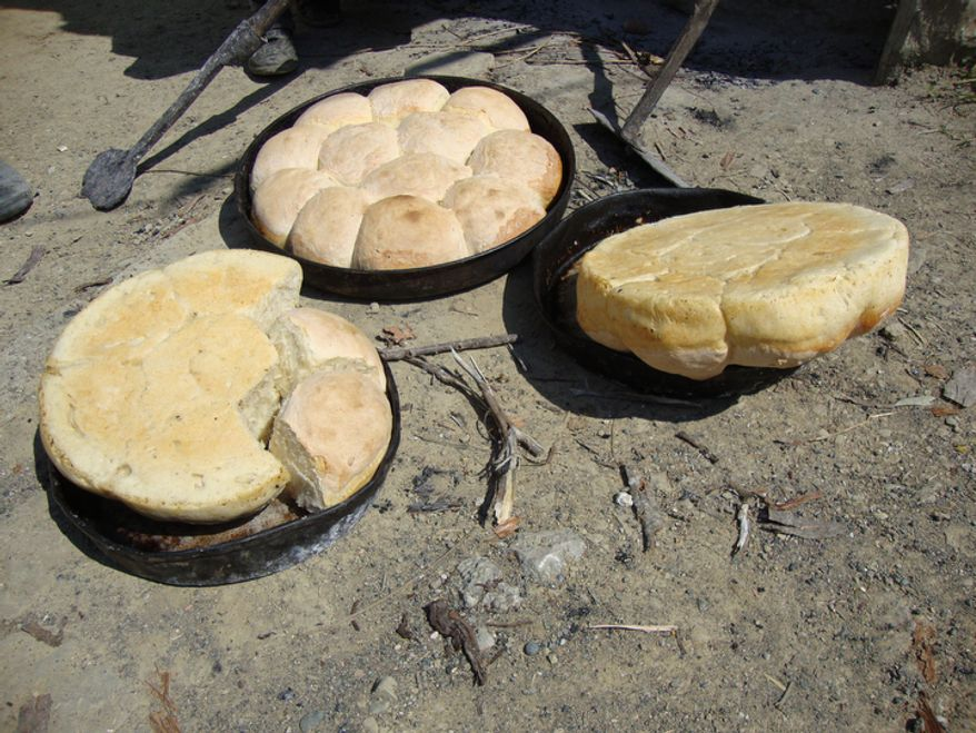 Every family in the small mountain village of Selta in central Albania prepares freshly baked Easter bread in their home oven in the yard. (Eckehard Pistrick/Special to The Washington Times)