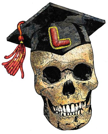 Illustration: Liberal grad by Greg Groesch for The Washington Times