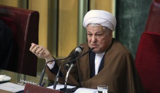 **FILE** Former Iranian President Hashemi Rafsanjani (Associated Press)