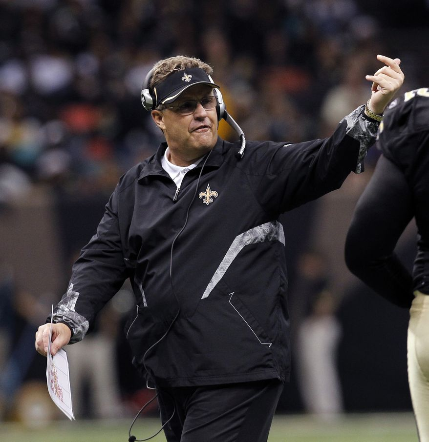 "A newly released recording purports to capture former Saints defensive coordinator Gregg Williams telling players to ""put a lick"" on San Francisco's Kyle Williams to see if the receiver has lingering effects from an earlier concussion. (AP Photo/Gerald Herbert, File)"