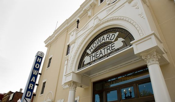 The redesigned historic Howard Theatre is set to reopen with a ribbon cutting Monday and an opening night gala on Thursday, Washington, D.C., Thursday, April 5, 2012. (Andrew Harnik/The Washington Times)