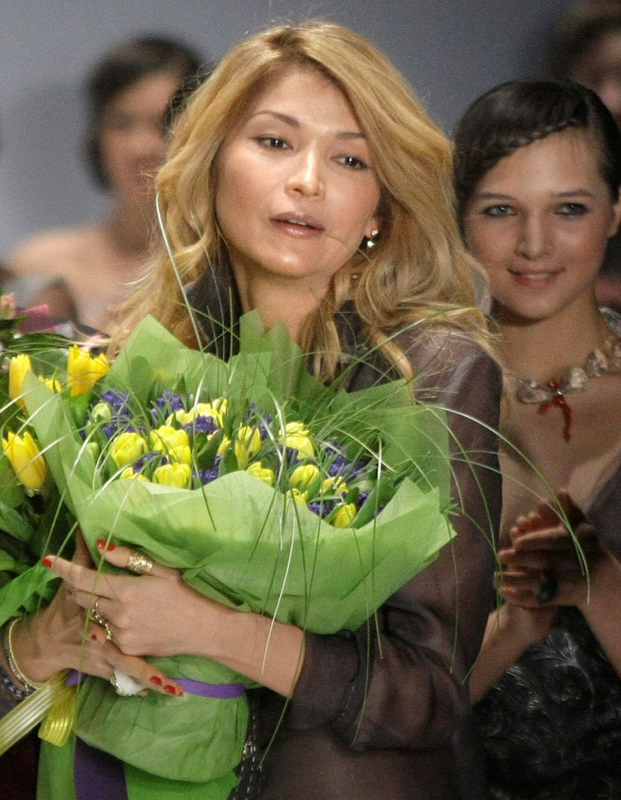 """All my songs are spoken for different moments of my life,"" says Gulnara Karimova, who has written and recorded songs for a new album. The daughter of Uzbekistan's president performs under the name GooGoosha. (Associated Press)"