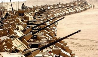 U.S. Army Bradley Fighting Vehicles (Associated Press) ** FILE **