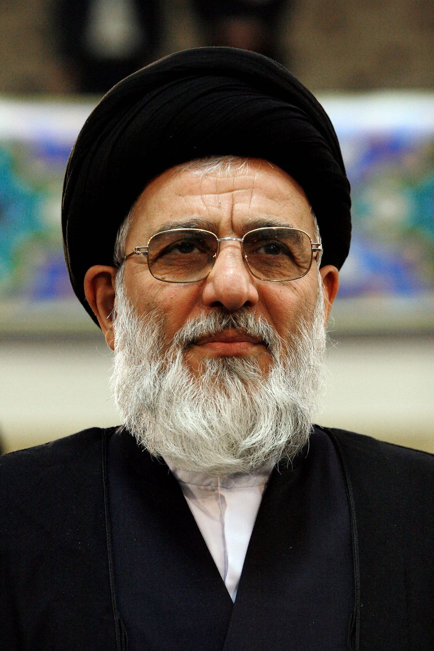 Ayatollah Mahmoud Hashemi Shahroudi has the backing of Iranian government officials to succeed Grand Ayatollah Ali al-Sistani as the Shiites' spiritual leader. (Associated Press)