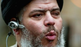 "Abu Hamza al-Masri and four other terrorism suspects sought to block their extradition from Britain to the U.S., claiming they faced ""torture or inhuman or degrading treatment or punishment"" in American custody. (Associated Press)"