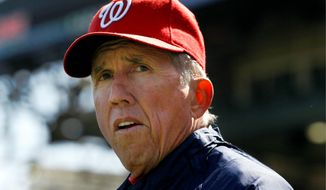Sixty-nine-year-old Davey Johnson has managed five different teams for a total of 2127 games, 89 of which has come with the Nationals. (Associated Press)