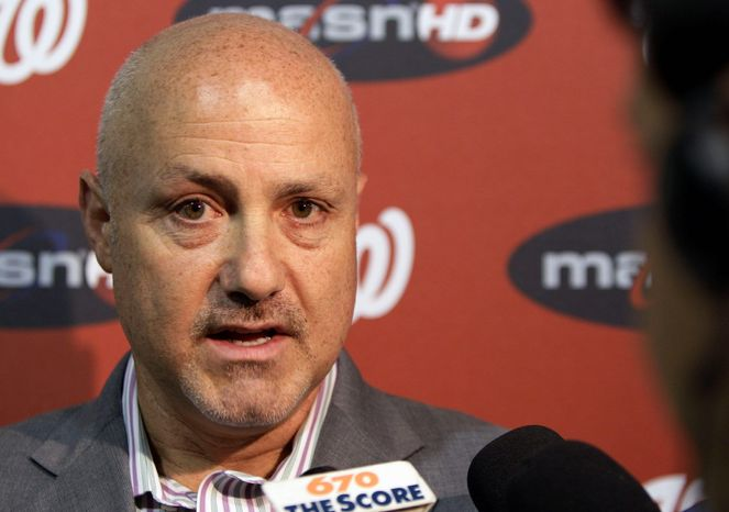 Mike Rizzo became the Nationals' full-time manager and senior vice president of baseball operations in August of 2009. (Associated Press)