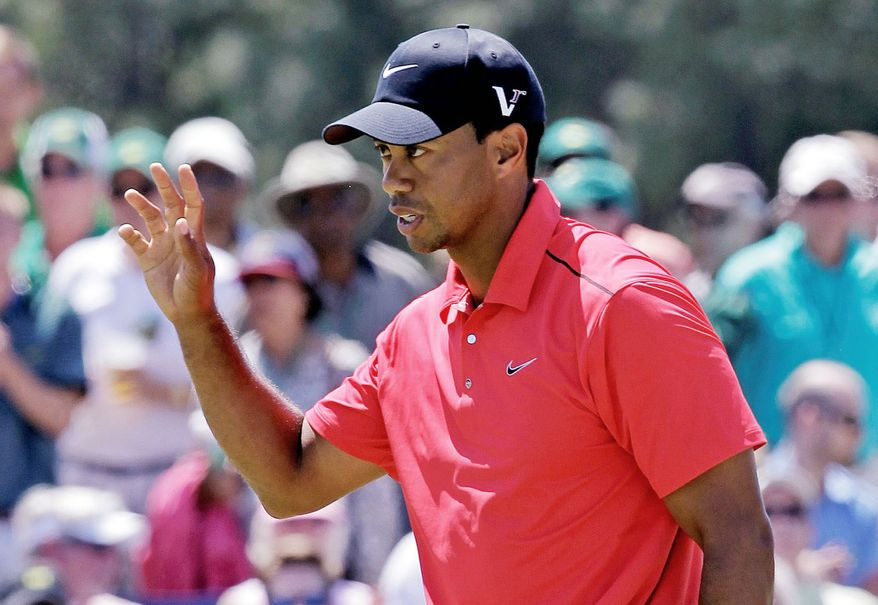 Tiger Woods tied for 40th at the Masters, his his worst 72-hole position in any major as a pro. (Associated Press)