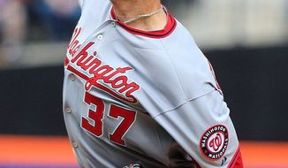 Stephen Strasburg struck out nine while lowering his ERA to 0.69 in two starts. (Associated Press)