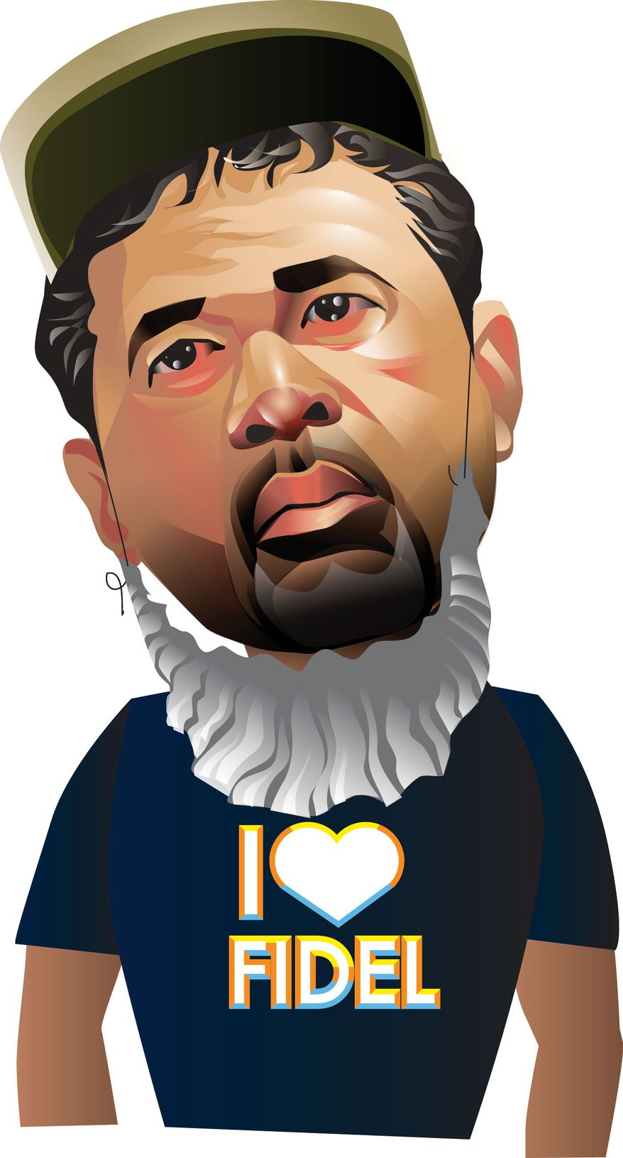 Illustration Ozzie Guillen by Linas Garsys for The Washington Times