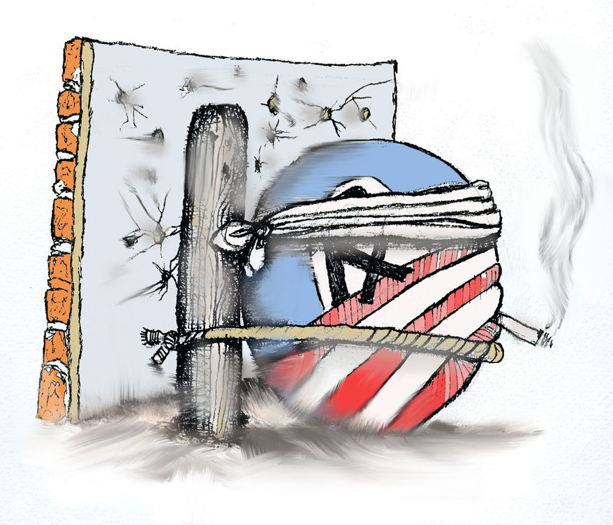 Illustration Obamacare by John Camejo for The Washington Times