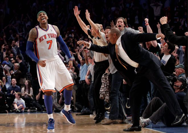 Carmelo Anthony has averaged 34.6 points in his past three games, including a 43-point performance against Chicago . (Associated Press)