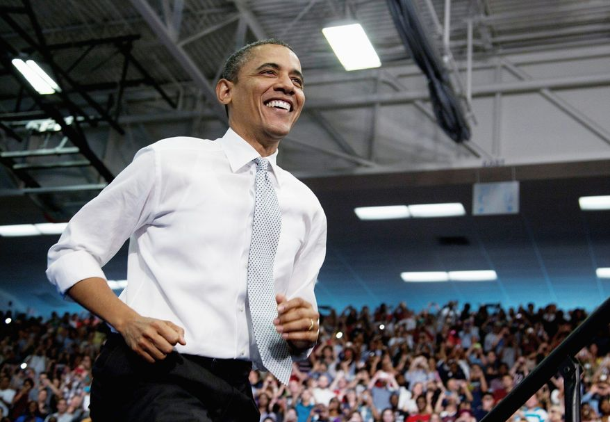 President Obama's trip to Florida was both official and political because he raised campaign funds. (Associated Press)