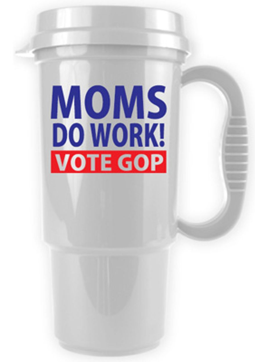 The nimble Republican National Committee already has replied to insults delivered to Ann Romney with a timely travel mug. (Image courtesy of the Republican National Committee)