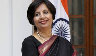 **FILE** Nirupama Rao, India's ambassador to the United States (Associated Press)