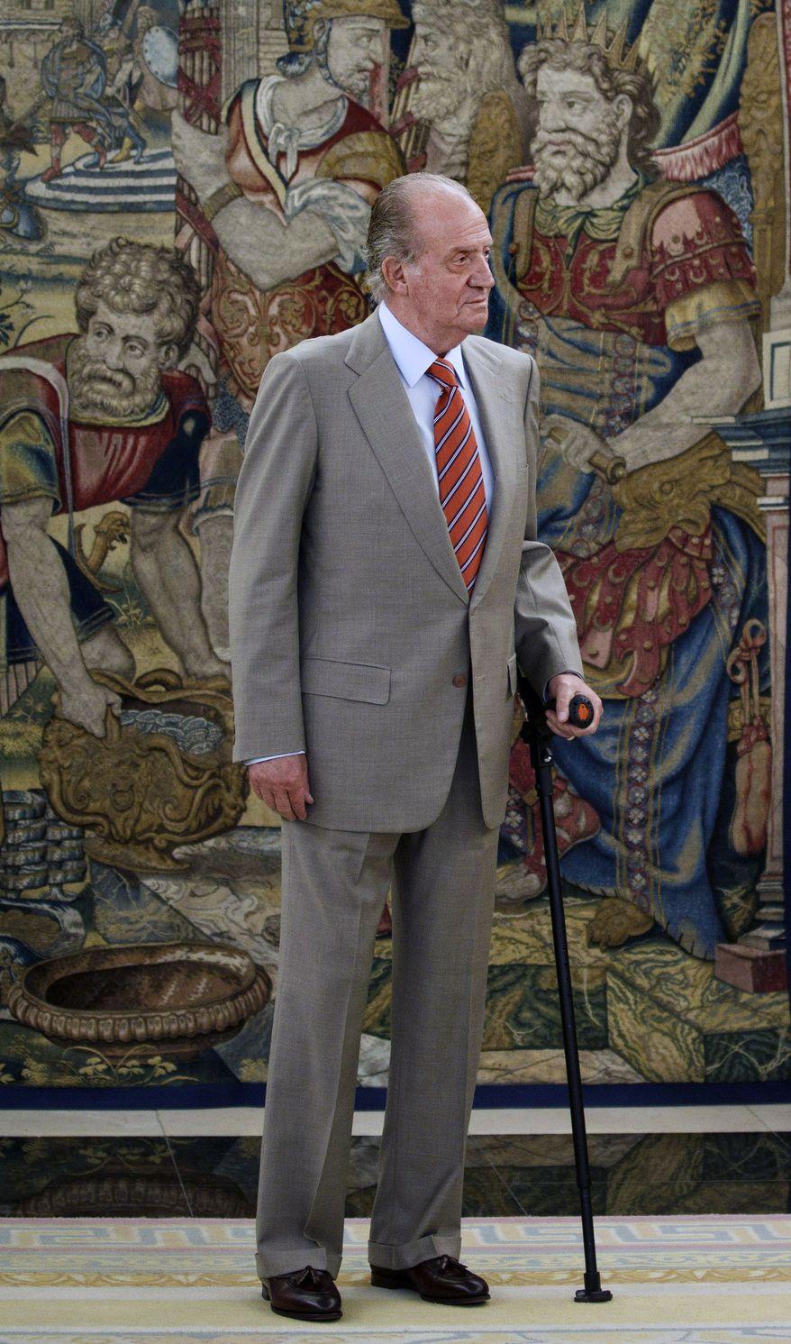** FILE ** King Juan Carlos of Spain (AP Photo/Daniel Ochoa de Olza)