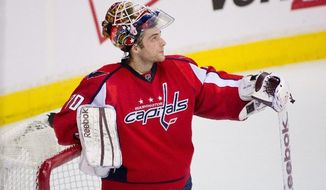 Capitals goalie Braden Holtby allowed twice as many goals in Game 3 as he had in the first two games combined(Andrew Harnik/The Washington Times)