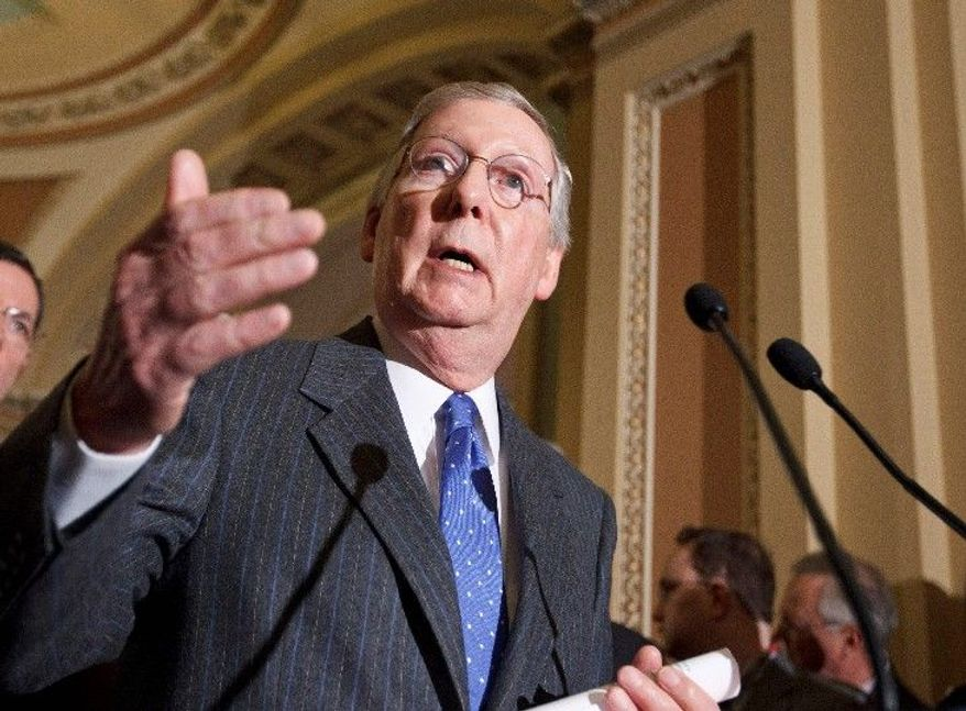 Senate Minority Leader Mitch McConnell, Kentucky Republican (Associated Press)